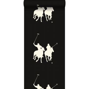 Tapete Polospieler Dunkelbraun von ESTA home