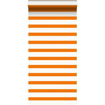 Tapete Streifen Orange und Weiß von ESTA home