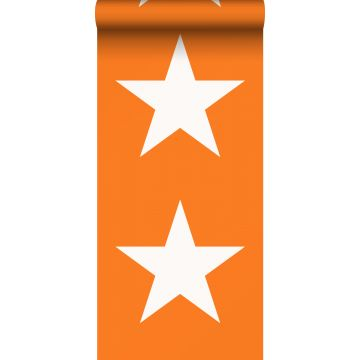 Tapete Sterne Orange und Weiß von ESTA home
