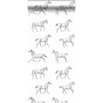 Tapete Pferdenzeichnung Schwarz von ESTA home
