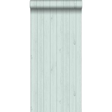 Tapete Holz-Optik Pastell Mintgrün von ESTA home