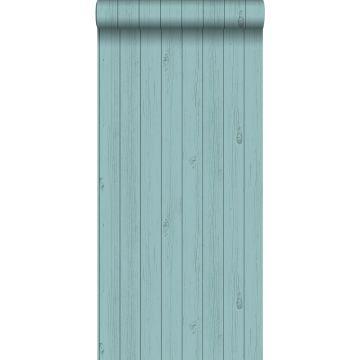 Tapete Holz-Optik Meeresgrün von ESTA home