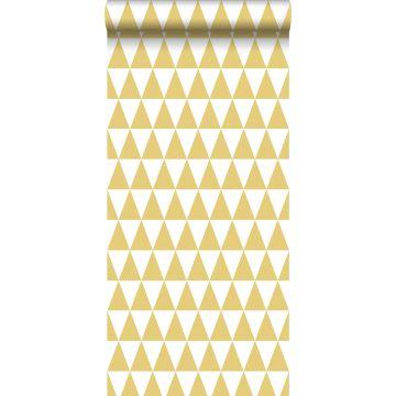 Tapete grafische Dreiecke Ockergelb von ESTA home
