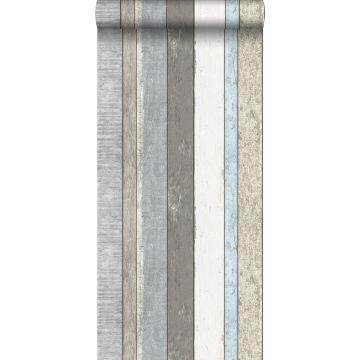 Tapete Holzoptik Grau und Hellblau von ESTA home