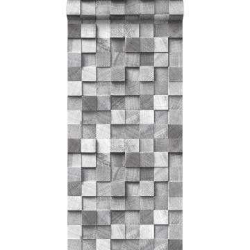 Tapete 3D Holzoptik Grau von ESTA home