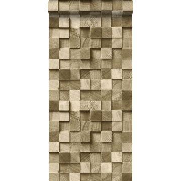 Tapete 3D Holzoptik Beigebraun von ESTA home