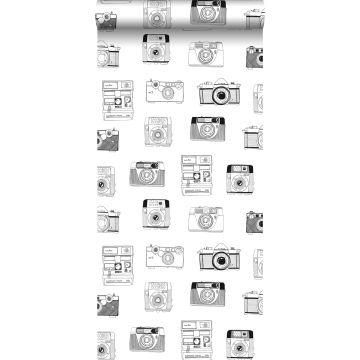 Tapete Polaroid Kameras Schwarz und Weiß von ESTA home