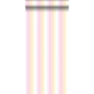 Tapete Regenbogenstreifen Hellrosa und Beige von ESTA home