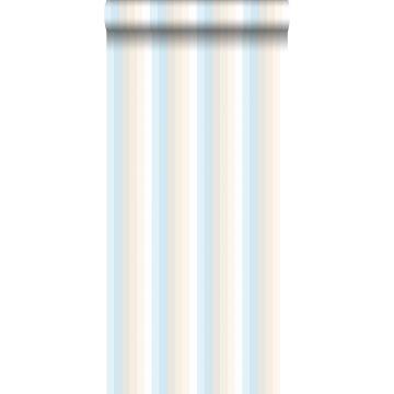 Tapete Regenbogenstreifen Hellblau und Beige von ESTA home