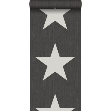 Tapete Sterne auf Jeansstoff Dunkelgrau von ESTA home