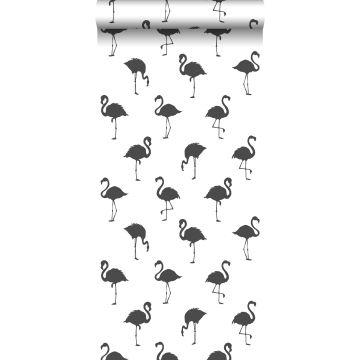 Tapete Flamingos Schwarz und Weiß von ESTA home