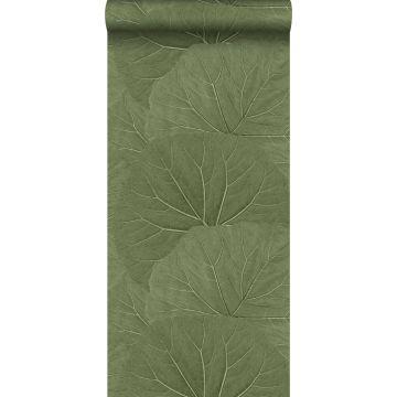 Tapete große Blätter Olivgrün von ESTA home