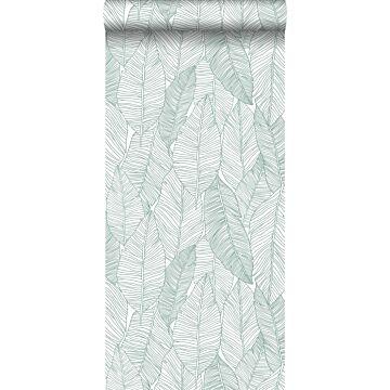 Tapete gezeichnete Blätter Grün von ESTA home