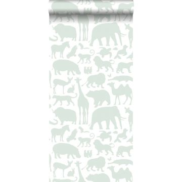 Tapete Tiere Mintgrün von ESTA home