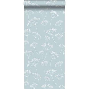 Tapete Doldenblütler Hellblau und Weiß von ESTA home