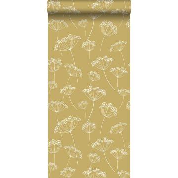 Tapete Doldenblütler Ockergelb und Weiß von ESTA home