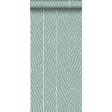 Tapete Fischgrätmuster Mintgrün von ESTA home