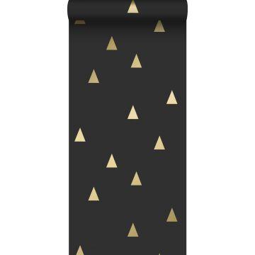 Tapete grafische Dreiecke Schwarz und Gold von ESTA home