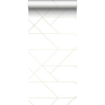 Tapete grafischen Linien Weiß und Gold von ESTA home