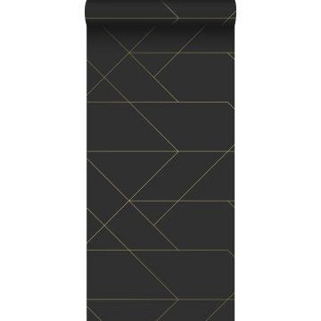 Tapete grafischen Linien Schwarz und Gold von ESTA home
