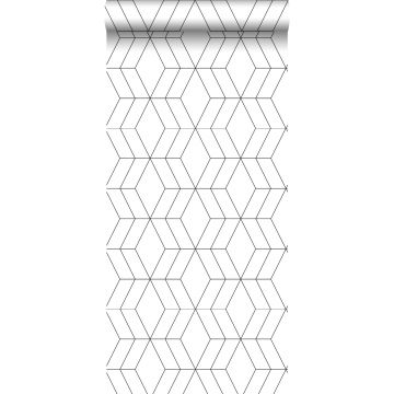 Tapete Art Decó Muster Weiß und Schwarz von ESTA home