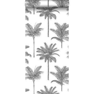 Tapete Palmen Schwarz-Weiß von ESTA home