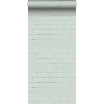 Tapete Backstein-Optik Mintgrün von ESTA home