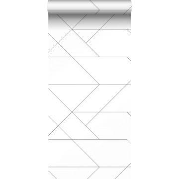 Tapete grafischen Linien Schwarz-Weiß von ESTA home