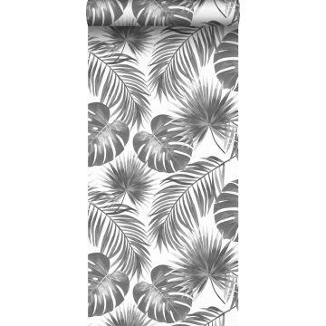 Tapete tropische Blätter Schwarz-Weiß von ESTA home