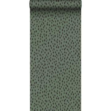 Tapete Punkte Graugrün und Schwarz von ESTA home