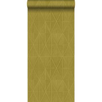 Eco Texture Vliestapete Origami-Muster Ockergelb von ESTA home