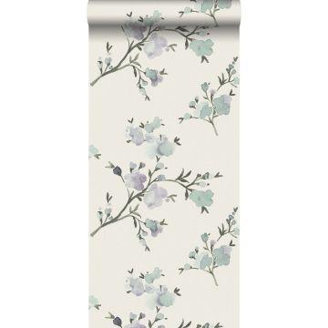 Eco Texture Vliestapete Kirschblüten Beige und Violett von ESTA home