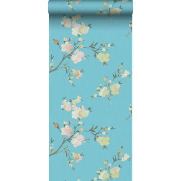 Eco Texture Vliestapete Kirschblüten Van-Gogh-Blau von ESTA home