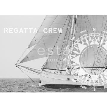Fototapete Seegelboot Schwarz und Weiß von ESTA home