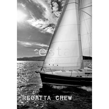 Fototapete Segelboot Schwarz und Weiß von ESTA home