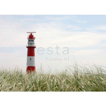 Fototapete Leuchtturm Rot, Weiß und Grün von ESTA home