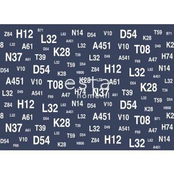 Fototapete Segelboot-Nummern Blau von ESTA home
