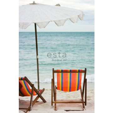 Fototapete Strand-Motiv Meeresgrün und Orange von ESTA home