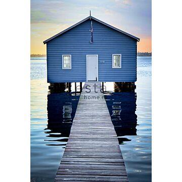 Fototapete Strandhaus-Motiv Blau, Grau und Abendrot von ESTA home