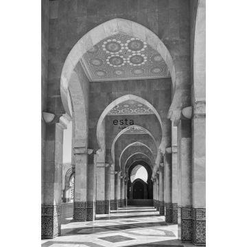 Fototapete Marrakecher Riad-Galerie Schwarz-Weiß von ESTA home