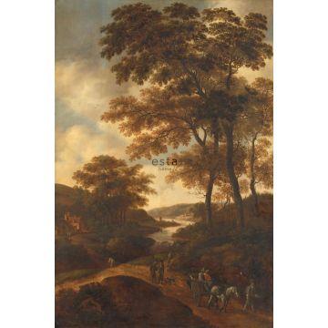 Fototapete bewaldete Landschaft Orange von ESTA home