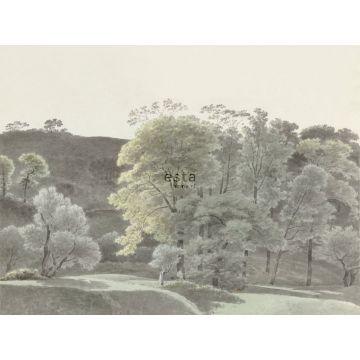 Fototapete bewaldete Landschaft Mintgrün von ESTA home