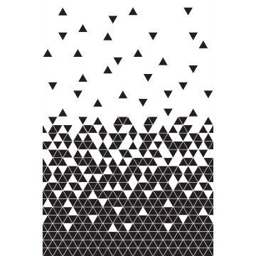 Fototapete Dreiecke Schwarz-Weiß von ESTA home