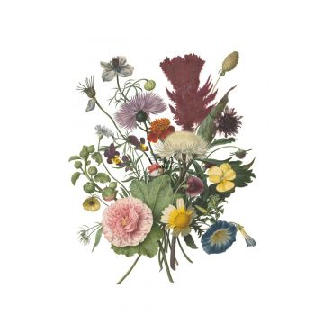 Fototapete Blumenstrauß Grün, Rosa, Gelb und Lila von ESTA home