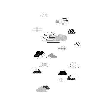 Fototapete Wolken Schwarz-Weiß von ESTA home