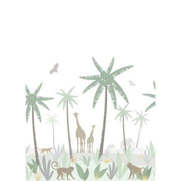 Fototapete Dschungeltiere Grün, Grau und Braun von ESTA home