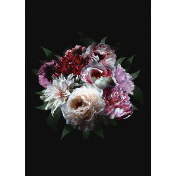 Fototapete Blumenstillleben Multicolor auf Schwarz von ESTA home