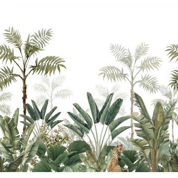 Fototapete Dschungelmuster Weiß und Olivgrün von ESTA home