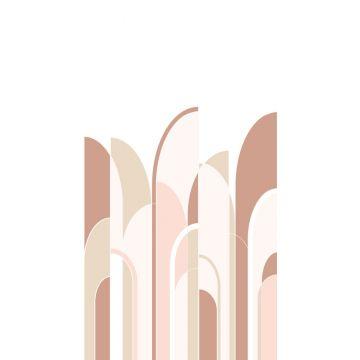 Fototapete Art Decó Muster Terracotta und Hellrosa von ESTA home