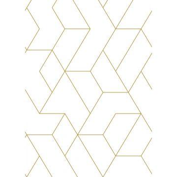 Fototapete grafischen Linien Weiß und Gold von ESTA home